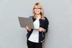 Student using laptop Stock Photos