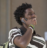 A student using a mobile phone Stock Photos
