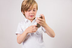 Student using a mobile phone Stock Image