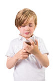 Student using a mobile phone Stock Photography