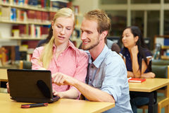 Student using netbook Stock Image