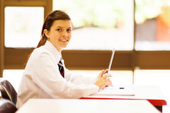 Student using tablet computer Royalty Free Stock Photography
