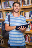 Student using tablet in library Stock Photos
