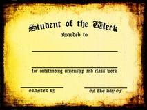 Student van de Week royalty-vrije illustratie