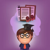 Student. Vector format Royalty Free Stock Photography
