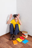 Student in VR Glasses Stock Photography