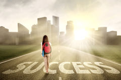 Student walking on the success way 1 Stock Photos