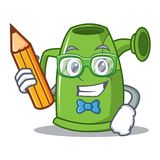 Student watering can character cartoon Royalty Free Stock Images