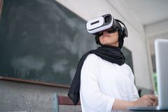 Free Student Wear VR Royalty Free Stock Image - 116926256