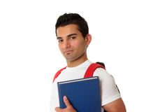 Student wearing a backpack Royalty Free Stock Photos