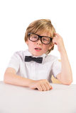 Student wearing glasses and bow tie Stock Photography