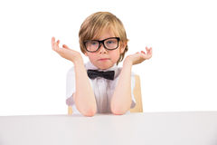 Student wearing glasses and bow tie Stock Photos