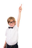 Student wearing glasses and bow tie Royalty Free Stock Images