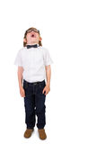 Student wearing glasses and bow tie Royalty Free Stock Photography