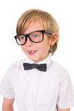 Student wearing glasses and bow tie Royalty Free Stock Photo