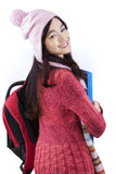 Student wearing Winter Clothes in The Studio Stock Images