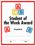 Student of the week award certificate  available Royalty Free Stock Image