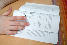 The student went to study and prepare for the exam Stock Images