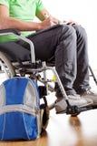 Student on wheelchair Royalty Free Stock Photos