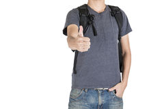 Student on white background. Young student on white background Stock Images