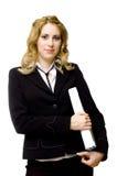 Student with white folder Stock Photo