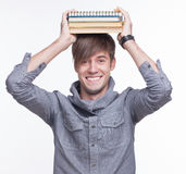 Student on white Royalty Free Stock Photography