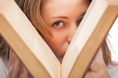 Student woman with book Stock Photo