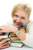 Student woman with book Stock Images