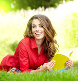 Student woman with book. University education. Royalty Free Stock Image