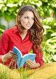 Student woman with book. University education. Stock Photos