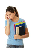 Student woman with depression Stock Images