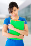 Student woman with depression. Upset student woman with depression Royalty Free Stock Photography