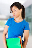 Student woman with depression. Upset student woman with depression Stock Photo