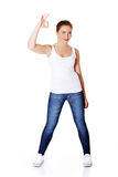 Student woman gesturing perfect Royalty Free Stock Photo