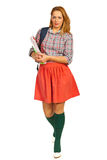 Student woman going to school Stock Photos