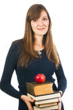 Student woman holding books Stock Image