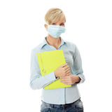 Student woman with mask Stock Images