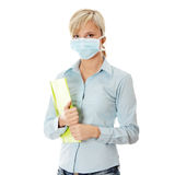 Student woman with mask Royalty Free Stock Image