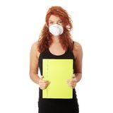 Student woman with mask Royalty Free Stock Photos