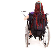Student woman on wheelchair Stock Photo