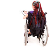 Student woman on wheelchair Stock Photography