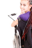 Student woman on wheelchair Royalty Free Stock Photography