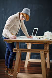 Student at work Royalty Free Stock Photo