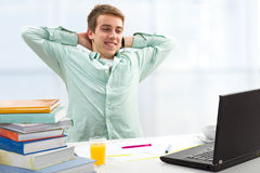 Student working on computer Royalty Free Stock Images