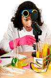Student working in the  lab Royalty Free Stock Images