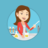 Student working at laboratory class. Royalty Free Stock Images