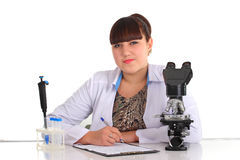 Student working in laboratory Royalty Free Stock Image