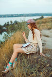 Student or writer on the nature concept Stock Photos