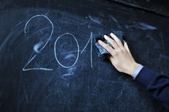 The student writes on a board - 2014 Royalty Free Stock Image