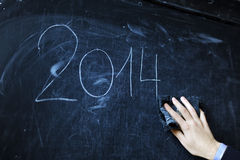 The student writes on a board - 2014 Stock Images